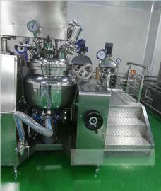 供应化妆品生产均质乳化锅 液压升降倾倒乳化机