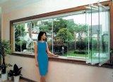 深圳全风景无框阳台折叠窗玻璃门窗,玻璃窗,无框阳台推拉窗,设计定制安装中心