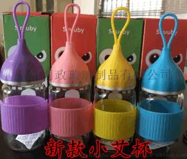 创意小艾杯玻璃水杯嘟嘟杯企鹅杯茶杯学生情侣蘑菇水杯禮品广告杯