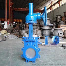 PZ573X伞齿轮刀闸阀 温州刀闸阀厂家 工作原理 结构图