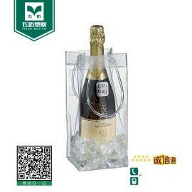 厂家批发定做透明pvc葡萄酒袋红酒手提袋塑料袋可专版UV印刷PVC袋