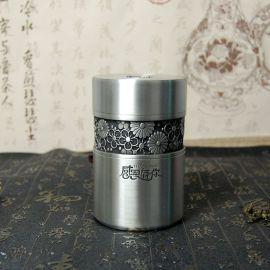纯锡茶叶罐感恩有你锡罐迷你锡器纯锡普洱茶罐厂家直销