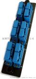 LC六口/SC双工金属光纤面板 金属面板 适配器法兰光纤面板