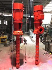 上海厂家直销CCCF消防深井泵XBD6.0/20GJ长轴深井消防泵/立式轴流深井消防泵22KW /干式长轴消防泵