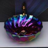 時尚彩色歐式陶瓷電鍍檯面圓形單盆