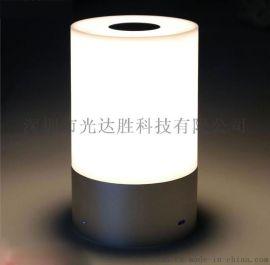 外贸爆款七彩led小夜灯 触摸床头灯 可充电礼品灯