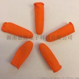 橙色防滑无尘一次性防静电乳胶手指套500pcs每袋