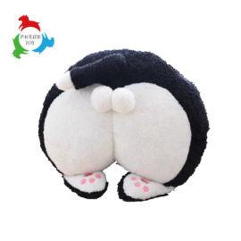 创意仿真猫咪屁股毛绒玩具抱枕靠垫车枕暖手捂儿童创意