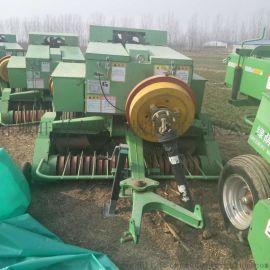玉米秸秆青贮打捆包膜机 牧草秸秆捡拾打捆机