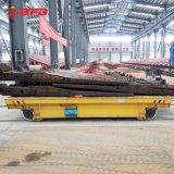 发动机装配生产线50吨平板导轨车 低压电动平车