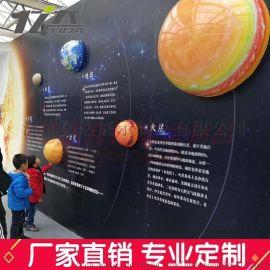 太阳系八大星球模型有机玻璃LED发光球装饰吊灯