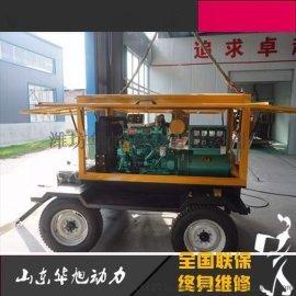 可移动50KW发电机组 标准四轮拖车 里卡多R4105柴油发电机