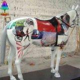 尚雕坊  彩绘动物雕塑 彩绘马玻璃钢雕塑 园林小品