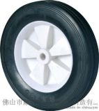 奔宇脚轮 6寸白色芯无轴割草机轮橡胶轮 单轮