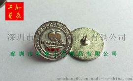定制铜材料金属徽章/定制公司logo标志金属徽章