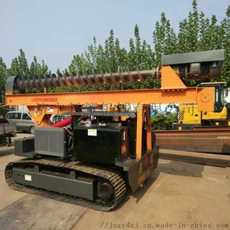 工程用太阳能光伏螺旋履带式打桩机厂家