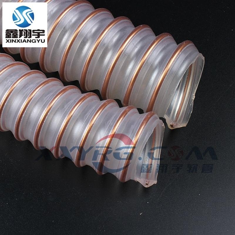 印刷机耐高温高压进口1.5mm聚氨脂PUR钢丝软管