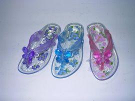 塑料凉鞋/水晶女鞋(LX 028C-2)