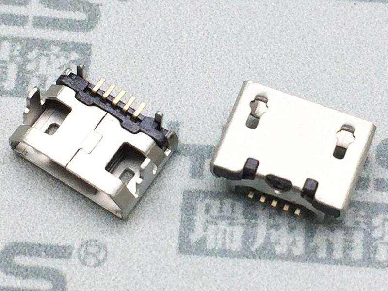 MICRO USB連接器 四角180度B-TYPE