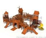 大型树屋滑梯儿童塑料滑梯景区公园爬网组合滑梯定制