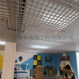 厂家直销材质轻巧铝格栅吊顶 公共场所安装白色铝格栅
