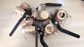 自闭闸阀式短测深管头、闸阀型测深自闭阀带报 装置