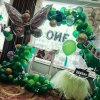 昆明花語花香百日宴氣球裝飾生日宴氣球布置壽宴氣球