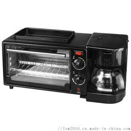 家用多功能早餐机咖啡机电烤箱迷你自助三合一早餐机