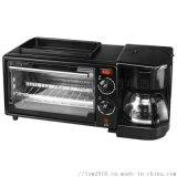 家用多功能早餐機咖啡機電烤箱迷你自助三合一早餐機