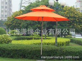 雙頂庭院傘定制雙層架中柱傘兩層通風頂庭院傘定做廠家
