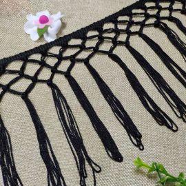 人造丝手编打结排须花边窗帘桌布装饰流苏花边批发