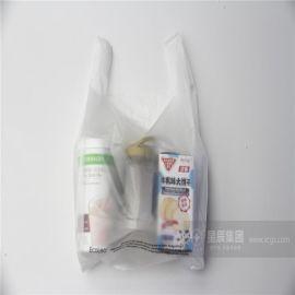 廠家供應PLA/PBAT全生物降解超市購物袋 抗撕裂韌性好的馬甲袋