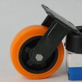 厂家直销 6寸工业塑芯聚禄定向脚轮 耐磨静音推车轮 轱辘轮子批发