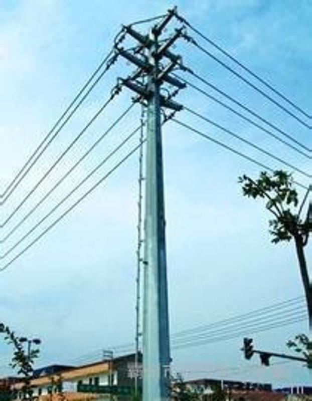 电力钢杆 高杆灯 北京35KV钢管杆、钢管桩基础及打桩车改造