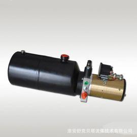 12V2100W电机单作用电磁阀环卫车液压动力单元