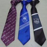 涤丝印花领带-小领带定制-学生领带订做