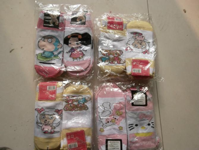 供应低价外贸纯棉短袜