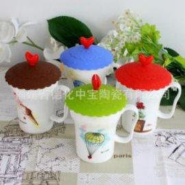 厂家直销 陶瓷杯定做 可爱马克杯 多款 带盖 带手柄 儿童卡通杯