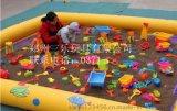 兒童玩沙氣墊配送決明子和玩具