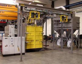 吊钩式抛丸机  为钢材型钢类产品除锈及增加涂装附着力的抛丸设备