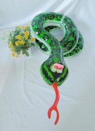 广东乐翔生产 仿真蛇充气玩具 专业定制卡通动物气模 儿童益智玩具