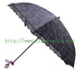 二折防紫外线蕾丝边伞