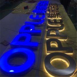树脂字3D发光字广告字LED广告牌LOGO墙发光字门头招牌广告标识
