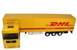 1:50MAN头锌合金压铸塑胶货柜车卡车集装箱模型玩具车
