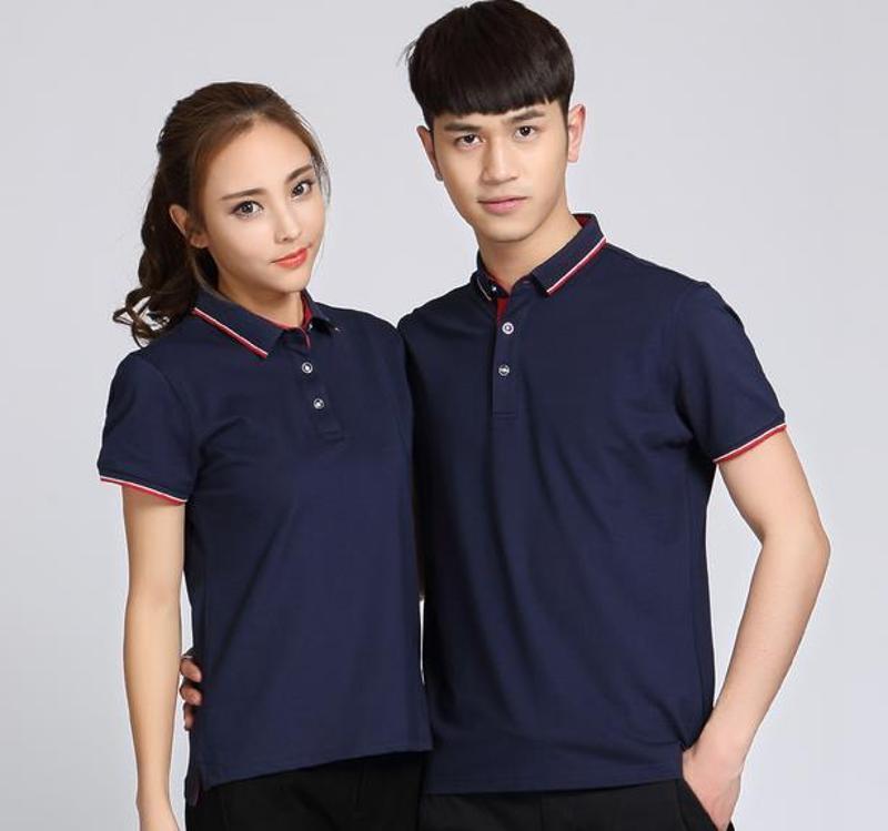 夏季工作服t恤定製logo同學聚會服裝企業翻領衫