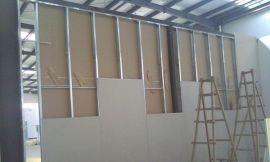 沙井上星办公室墙面刷新,沙井步涌厂房石膏板隔墙装修