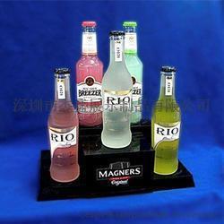 压克力LED发光展示架 酒吧用品展示架 龙舌兰酒TEQUILA展示架