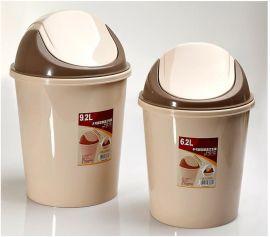 汇骏 摇盖垃圾桶 欧式创意时尚家用厨房卫生间免收纳桶6.2L