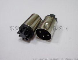 鉚壓式大DIN3PIN公頭連接器免焊