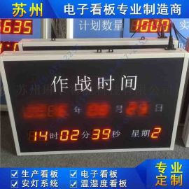 GPS同步校时电子钟时间显示屏LED万年历电子看板